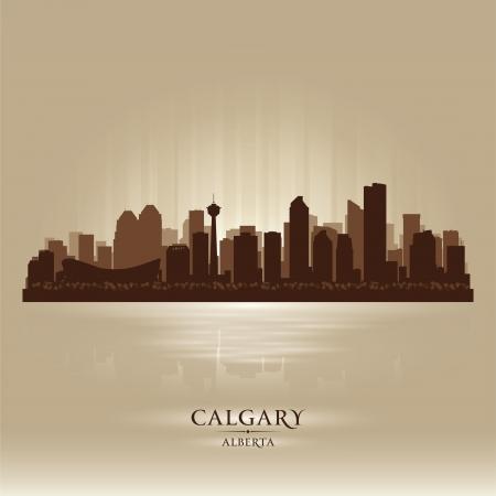 calgary: Calgary Alberta skyline city silhouette  Vector illustration