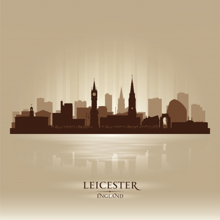 europa: Leicester England skyline city silhouette