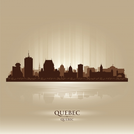 canada: Quebec Canada skyline city silhouette  Vector illustration