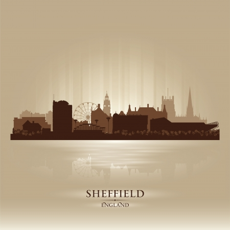 Sheffield England skyline city silhouette Stock Vector - 18386231