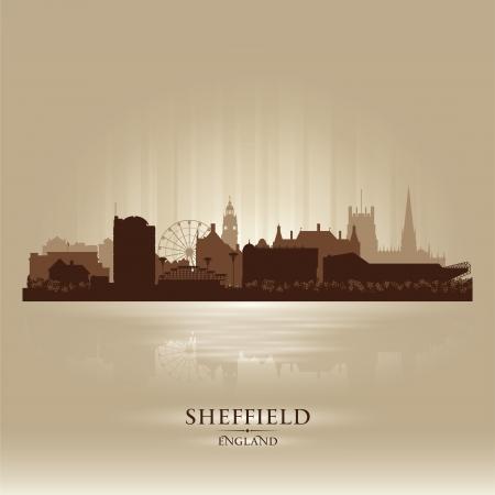 Sheffield England skyline city silhouette Stock Vector - 18386231