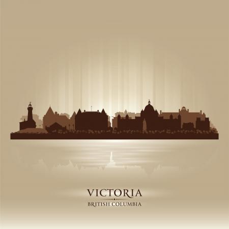 british columbia: Victoria British Columbia skyline city silhouette  Vector illustration Illustration