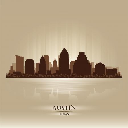austin: Austin Texas Skyline Silhouette. Vector illustration