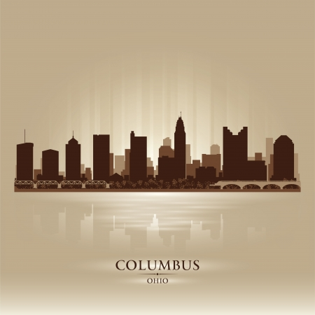 Columbus Ohio city skyline silhouette. Vector illustration Stock Vector - 18671047