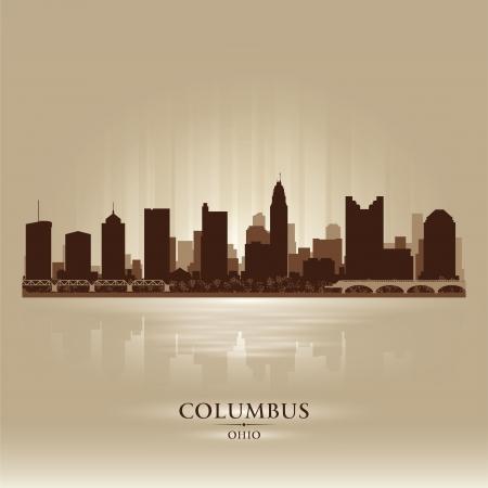 Columbus Ohio city skyline silhouette. Vector illustration Stock Vector - 18671047