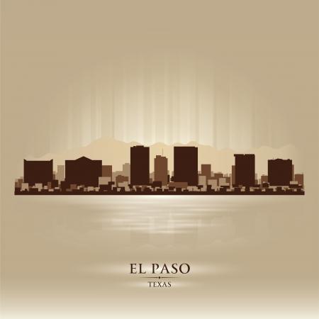el: El Paso Texas city skyline silhouette. Vector illustration Illustration