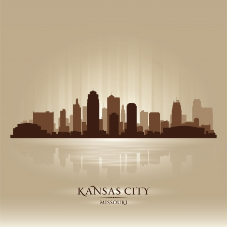 Kansas City Missouri city skyline silhouette. Vector illustration Vector