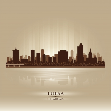 Tulsa Oklahoma city skyline silhouette. Vector illustration Stock Vector - 18671049