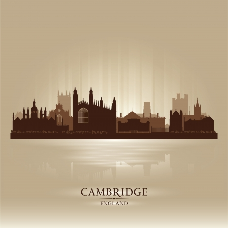 Cambridge England city skyline silhouette. Stock Vector - 19370029