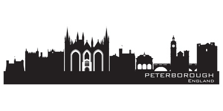 Peterborough England city skyline Detailed silhouette.  Stock Vector - 19370030