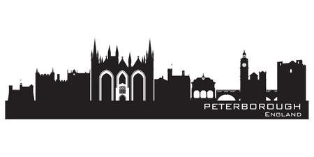 Peterborough England city skyline Detailed silhouette.  Stock Vector - 19370030