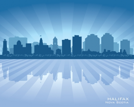 Halifax Canada skyline city silhouette illustration Vector