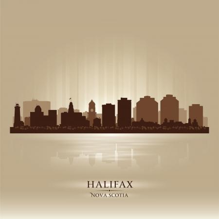 Halifax Canada skyline city silhouette illustration