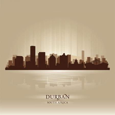 sky scraper: Durban South Africa city skyline silhouette illustration