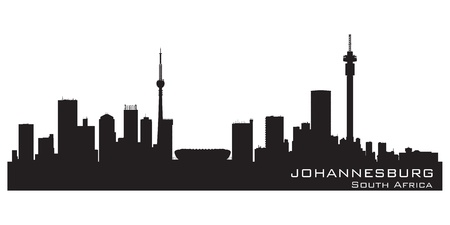 johannesburg: Johannesburg, South Africa skyline. Detailed silhouette illustration Illustration