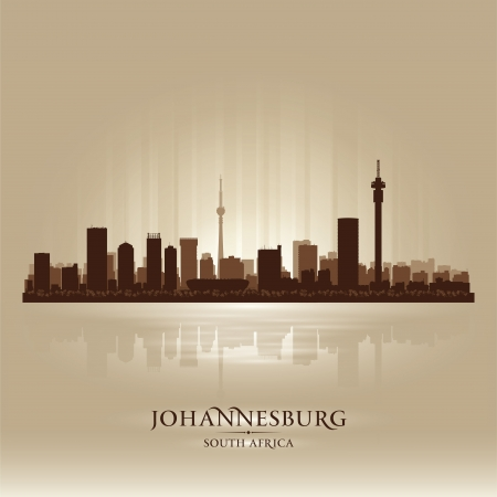 johannesburg: Johannesburg South Africa city skyline silhouette. Vector illustration Illustration