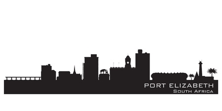 Port Elizabeth, South Africa skyline  Detailed silhouette  Vector illustration