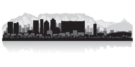 ケープタウン都市スカイライン シルエット イラスト  イラスト・ベクター素材
