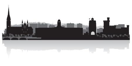 Cork city skyline silhouette illustration Ilustração