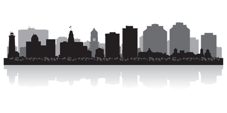 Halifax Canada city skyline silhouette illustration Vector