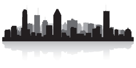 Montreal Canada city skyline silhouette illustration