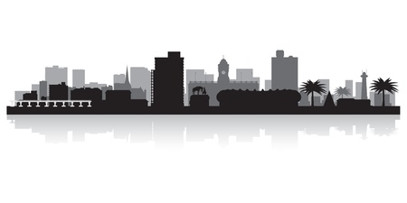 Port Elizabeth city skyline silhouette  illustration
