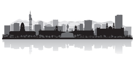 waterfront: Pretoria city skyline silhouette illustration Illustration