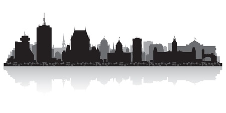 Quebec Canada city skyline silhouette  illustration Vector