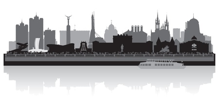 samara: Samara city skyline silhouette illustration Illustration