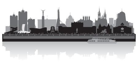 Samara city skyline silhouette illustration Illustration