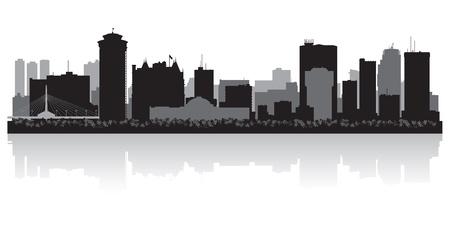 winnipeg: Winnipeg Canada city skyline silhouette illustration Illustration