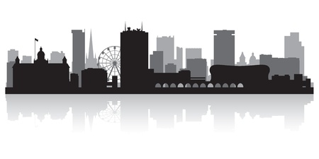 scraper: Birmingham city skyline silhouette vector illustration Illustration