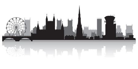 bristol: Bristol city skyline silhouette vector illustration