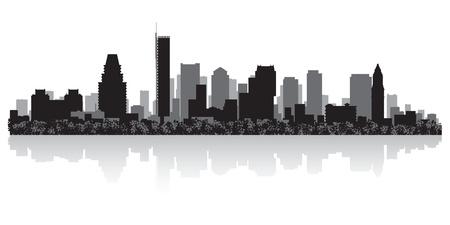 Boston USA city skyline silhouette vector illustration Stock Vector - 21157905
