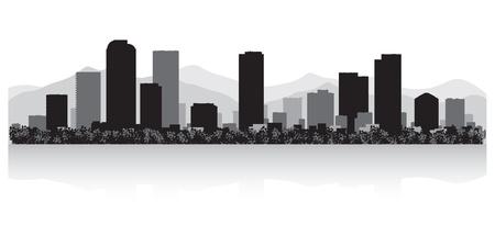 Денвер: Денвер США горизонты города силуэт векторные иллюстрации