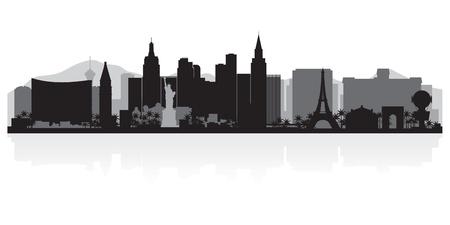 silhueta: Las Vegas EUA horizonte da cidade ilustra