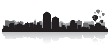 albuquerque: Albuquerque USA city skyline silhouette vector illustration
