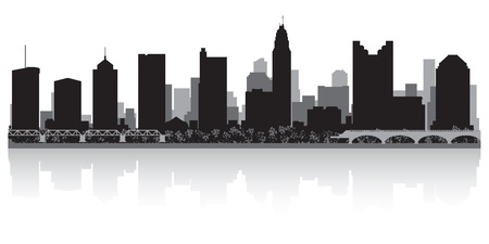 Columbus USA city skyline silhouette vector illustration Stock Vector - 21157922