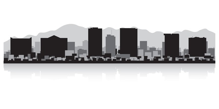 lake shore: El Paso USA city skyline silhouette vector illustration