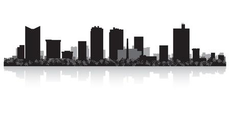 フォート ワース米国都市スカイライン シルエット ベクトル イラスト