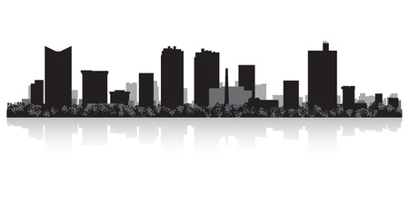 fortress: Fort Worth USA city skyline silhouette vector illustration