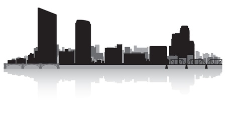 grand rapids: Grand Rapids USA city skyline silhouette vector illustration