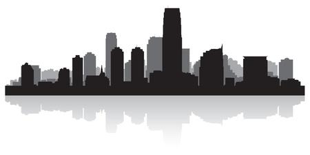 jersey city: Jersey city USA skyline silhouette vector illustration