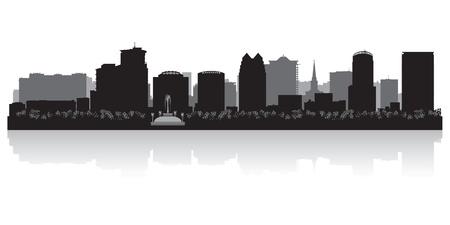 オーランド アメリカ都市スカイライン シルエット ベクトル イラスト