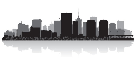 waterfront: Richmond USA city skyline silhouette vector illustration