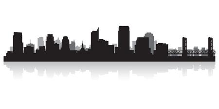 Sacramento USA city skyline silhouette vector illustration Stock Vector - 21157944