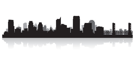 sacramento: Sacramento USA city skyline silhouette vector illustration