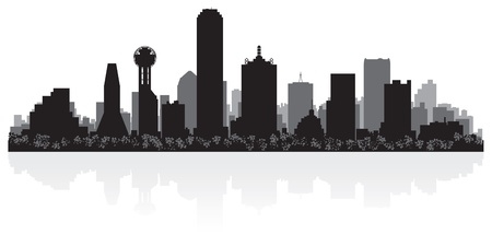 Dallas USA city skyline silhouette vector illustration Illustration