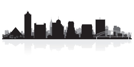 memphis: Memphis USA city skyline silhouette vector illustration Illustration