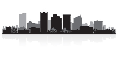 Phoenix USA city skyline silhouette vector illustration Illusztráció